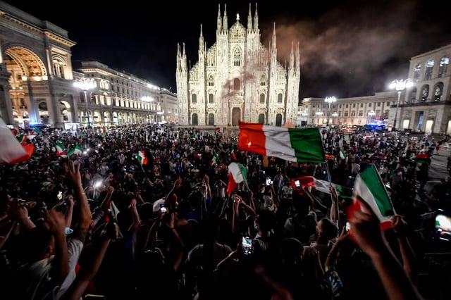 Italy European Soccer Champions