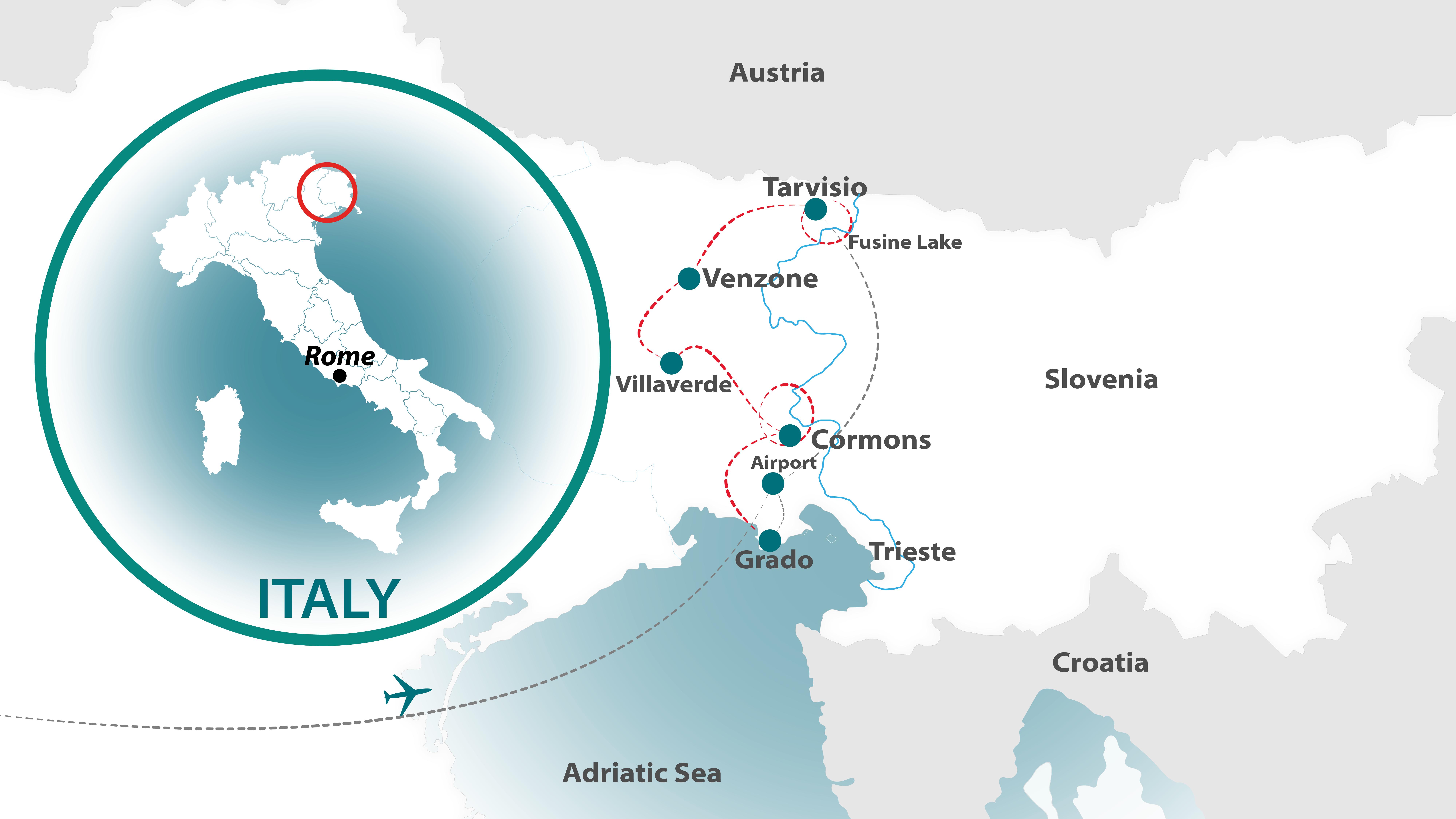 friuli_venezia_giulia Chef Bike Tour map