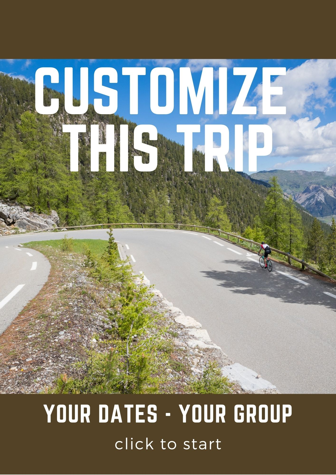 Customize this trip Western Alps
