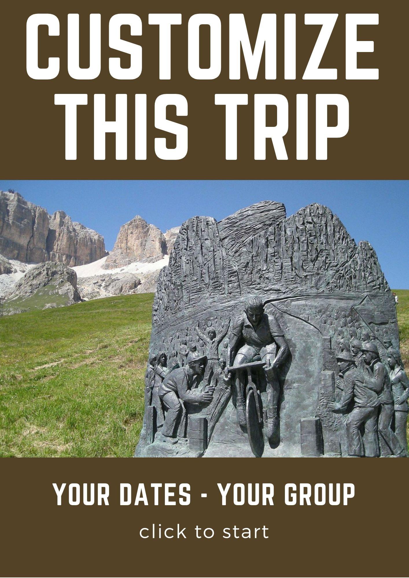 Customize this trip Dolomites