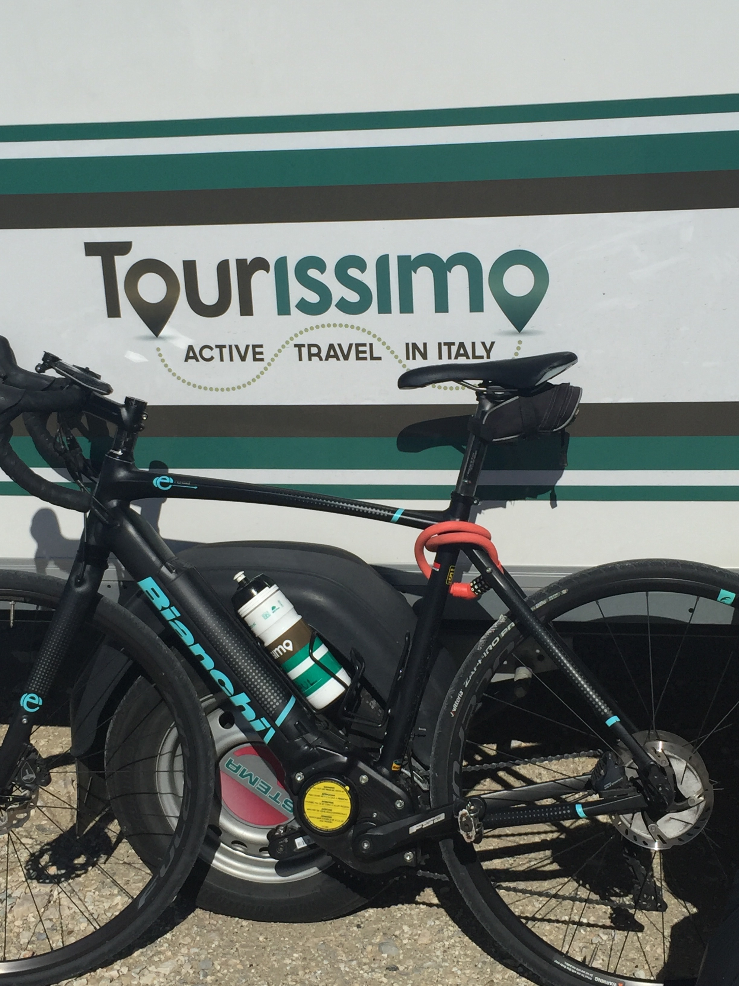 My first experience of an e-bike, thanks to Tourissimo