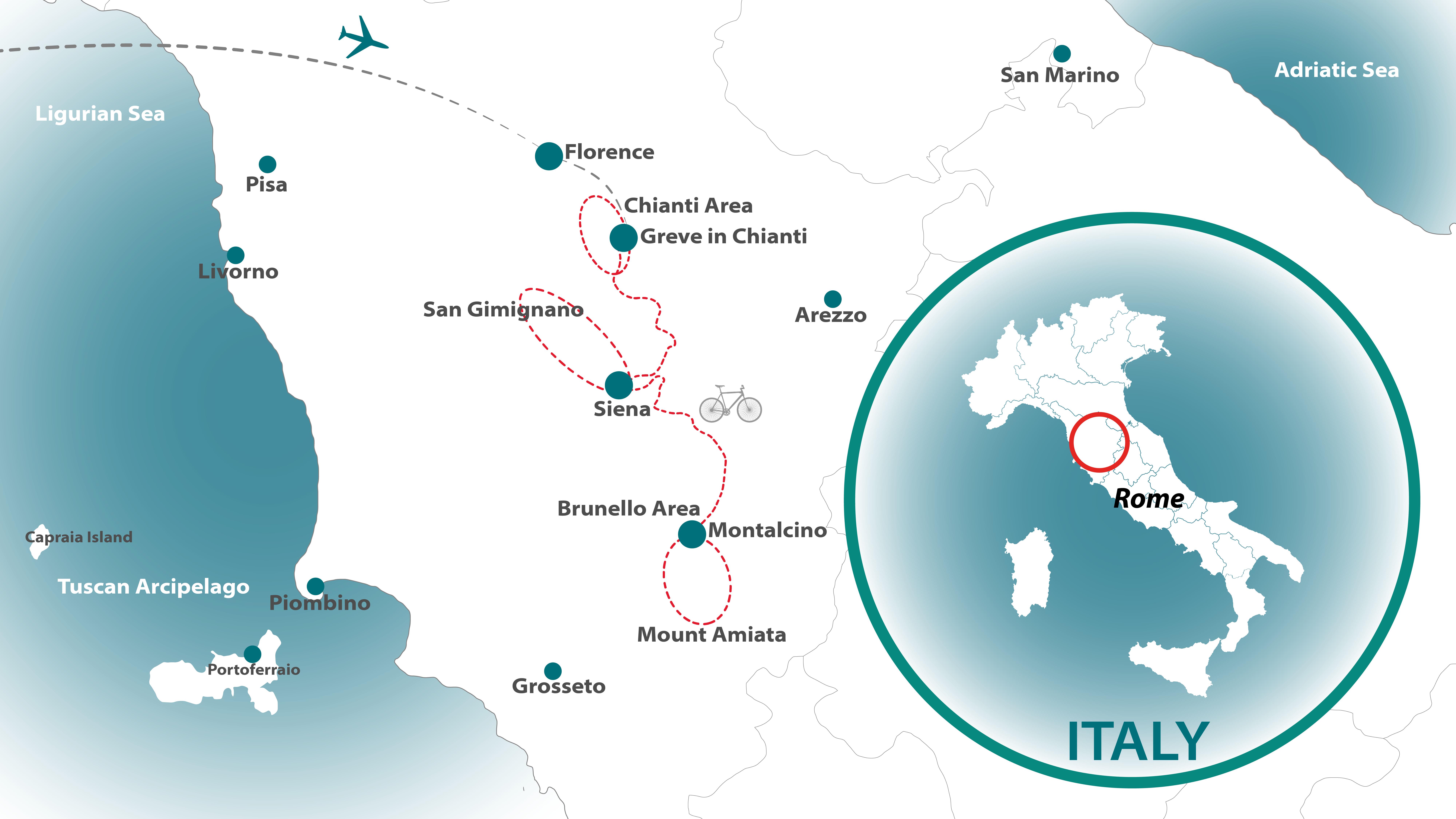 Tuscany Mini Cycling Tour